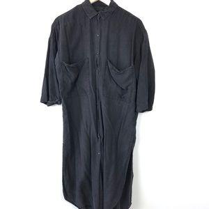 Zara | Button Down Maxi T-Shirt Dress
